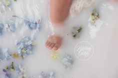 Milk Bath Dream Session | Baby Bath | Wildflowers | Start With The Best | Cleveland | Brittany Gidley Photography LLC
