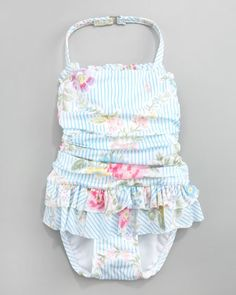 Ruffled Floral Swimsuit by Ralph Lauren Childrenswear at Bergdorf Goodman.