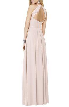 9ff467a9eb8 Social Bridesmaids Matte Chiffon Gown Mariage De Princesse