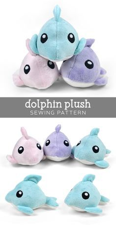 Free dolphin softie tutorial in the downloadable PDF! All of Choly's PDFs are so detailed and clear to follow! Love them.