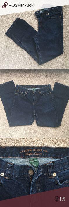Ralph Lauren petite jeans Straight leg dark wash women's 6 petite jeans. Ralph Lauren, like new condition. Great staple jeans! Lauren Ralph Lauren Jeans Straight Leg