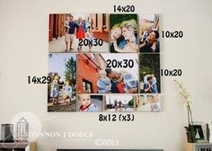 photo canvas collage ideas love this canvas collage idea plus this has dimensions home templates Photo Collage Canvas, Collage Picture Frames, Collage Ideas, Family Collage, Canvas Groupings, Picture Arrangements, Gallery Wall Layout, Personalized Photo Gifts, Inspiration Wall