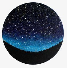 Night Sky Circle Painting by TreeHollowDesigns on Etsy Circle Painting, Night Sky Painting, Galaxy Painting, Night Sky Drawing, Vinyl Record Art, Vinyl Art, Night Sky Tattoos, Circle Art, Circle Drawing