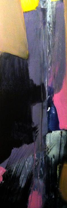 """Canyons Deliverance"" 9""x24"" mixed media  on Masonite  by Al Johnson Art 2014"