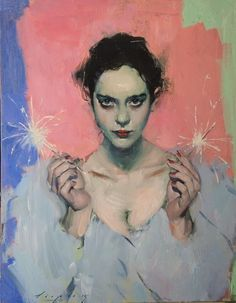 Malcolm T. Liepke, 'Sparklers', 2015, Oil on Canvas 28 × 22 in, 71.1 × 55.9 cm ARCADIA CONTEMPORARY