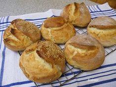 Szánter blogja.: Tenyérnyi cipók. Bread Rolls, Pretzel Bites, Hamburger, Bakery, Muffin, Food And Drink, Snacks, Breakfast, Recipes
