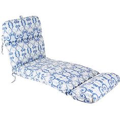 Universal Outdoor Chaise Deluxe Lounge Cushion - Walmart.com in Caminade Denim; $55