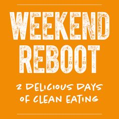 Do you need a total system reboot? Download your FREE 2-day weekend whole foods cleanse, complete with #glutenfree #vegan #paleo recipes http://www.healthfulpursuit.com/weekend-reboot/