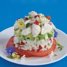 Crabmeat and Avocado with Spicy Vinaigrette