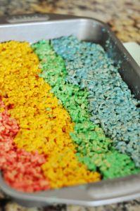 rainbow rice krispies