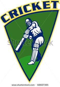 vector illustration of a cricket sports batsman batting isolated on white set inside shield - stock vector Football Girls, Sport Football, Sports Day, Sports Logo, Sports Drawings, Sports Wallpapers, Sports Memes, Tennis Clothes, Sport Quotes
