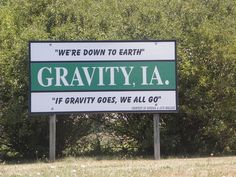 Iowa town welcome sign slogans A to Z