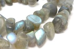 "Labradorite+Matte+Nugget+Smooth+Gemstone+Beads+16""+Strand+Blue+Jewelry+Making+Supplies"