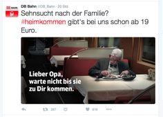 Reaktion der Deutschen Bahn auf den Edeka Weihnachtsspot 2015 #heimkommen