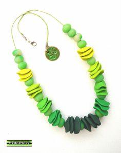 https://flic.kr/p/QtujyW | polymer clay necklace