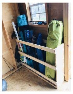 Storage Shed Organization, Garage Organisation, Barn Storage, Camping Storage, Diy Garage Storage, Garden Tool Storage, Tool Shed Organizing, Outdoor Storage, Garage Shed