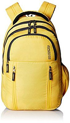 American Tourister 26 Ltrs Encarta Yellow Laptop Backpack