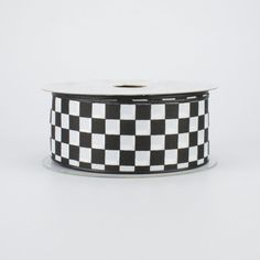 "1.5"" Black and White Checkered Ribbon (10 Yard Roll) Deco Mesh Ribbon, Lace Ribbon, Fabric Ribbon, Ribbon Colors, Halloween Deco Mesh, Fall Halloween, Craft Outlet, Chevron Ribbon"
