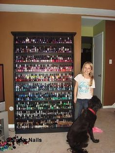 nail polish! I wish I had all those. And there are more on the floor!!!!
