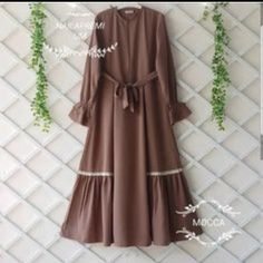 Abaya Fashion, Muslim Fashion, Modest Fashion, Fashion Dresses, Modest Dresses, Girls Dresses, Hijab Style Dress, Mode Abaya, Modele Hijab