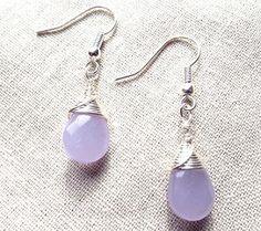 Lila Quarz Ohrringe/Silber Ohrringe/Lavendel von PepperandPomme, $13.00