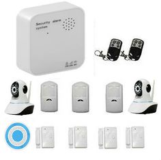 (164.80$)  Watch now  - Wifi GSM GPRS Home Alarm System Kits with Door Window Sensor Detector Wireless Siren Wireless IP Camera IOS/Android APP Control