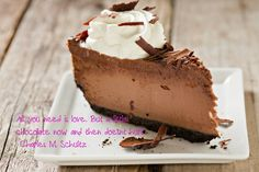 Chocolate lovers quote. Charles M Schultz.