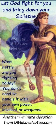 """TRASH TALK OR TRUTH TALK....Goliath used the first and David used the second. And this 1-minute devotion encourages us to do the same as David when we face our """"Goliaths."""""""