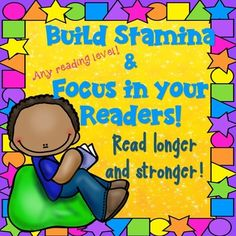 One of the goals of the Common Core is to get students to read longer, stronger and closer!  Building stamina and keeping focus is tricky but can be accomplished!  This product contains a mini bulletin board with 4 great strategies for kids to get in the habit of using.