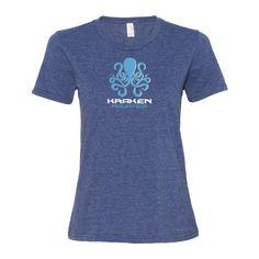 Women's short sleeve t-shirt with Kraken Aquatics Logo
