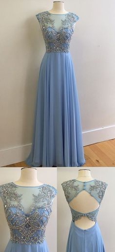 Real Made Charming Prom Dress,Beading Formal Dresses,A-Line Evening Dresses On Sale, ST23