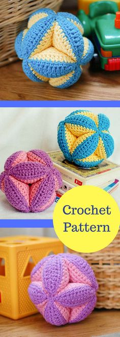 Crochet Pattern - Baby Clutch Ball Toy (makes a great baby gift) - Baby Shower Gift - DIY - Baby Crochet Patterns- Toy -Instant Download PDF after Purchase #ad
