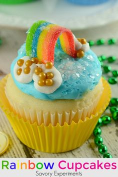 Rainbow Cupcakes are super easy and cute. The perfect cupcake for St. Patrick's Day, children's birthday parties or any random day of the week!