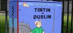Street art in #Dublin: Tintin, teddies and robots star on traffic-light boxes