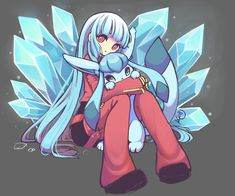 Kula Glaceon by Art (Kelly) Doom Demons, Kula Diamond, Snk King Of Fighters, Manga Anime, Anime Art, Pokemon Universe, Video Game Companies, Legend Games, Mobile Legend Wallpaper