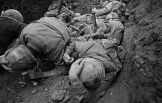 March 1968, Khe Sanh, Vietnam --- Khe Sanh, a remote outpost in Vietnam, faced full-scale siege from the North Vietnamese forces during the Vietnam War until it was finally abandoned to the North Vietnamese, two months after the siege began. --- Image by © Christian Simonpietri/Sygma/Corbis