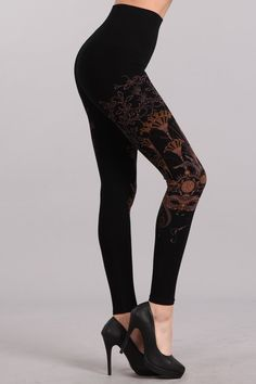 f33d979485c1a M-Rena Printed High Waist Tummy Tuck Seamless Leggings Seamless Leggings, Tummy  Tucks,