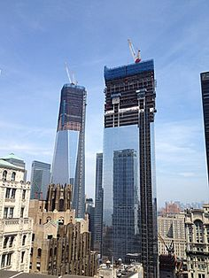World Trade Center climbs above the Empire State Building to become highest building in New YorkCity