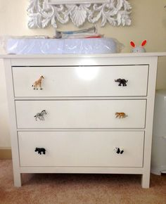 Boys Bedroom Safari Tiger Cub Cupboard or Drawer Knob