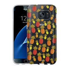 Samsung Galaxy S7 Clear Case - Brown Tan Yellow Pineapples