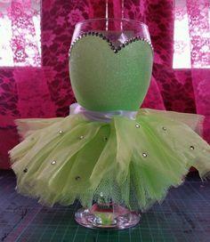 Glittered tutu wine glasses | eBay