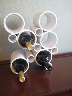 DIY Wine bottle holder from PVC pipe - I love!