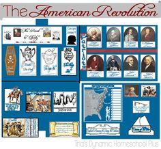 Free American Revolution Lapbook and Unit Study |  Tina's Dynamic Homeschool Plus