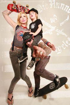 Duane Peters, Corey Parks; family photo   coolest family photo EVAR