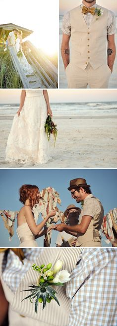 {Una boda informal en una playa de Florida} - {Love Notes} Las Notas de amor de Vintage & Chic