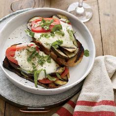 Open-Face Grilled Eggplant Sandwiches // More Superb Vegetarian Recipes: http://www.foodandwine.com/slideshows/vegetarian #foodandwine