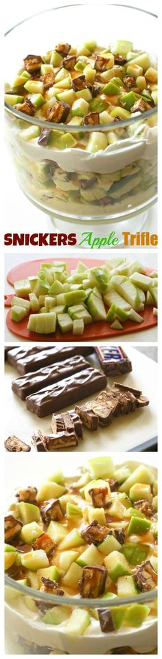 This Snickers Apple Trifle is a super easy dessert that is impressive! Great for feeding a crowd. http://goo.gl/cHHJ1Q