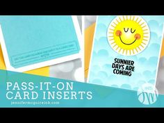 Pass-It-On Card Inserts - YouTube Diy Cards, Your Cards, Handmade Cards, Jennifer Mcguire Ink, Simon Says Stamp Blog, Rainbow Card, Interactive Cards, Card Tutorials, Ink Pads