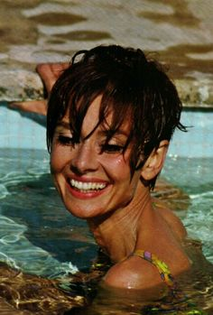 Audrey Hepburn with short hair in the South of France, 1966 -