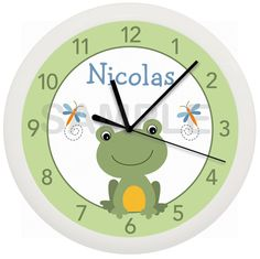 Frog Froggy Dragonfly Pond Personalized Nursery by cabgodfrey2, $16.99